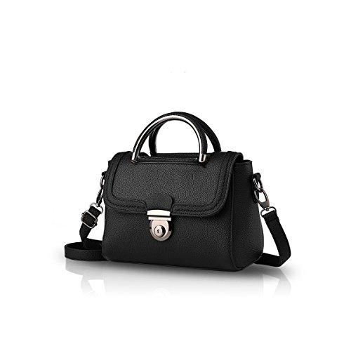 NICOLE&DORIS Neue kleine quadratische Taschen Schulter Umhängetasche Damen/Frauen Handtaschen(Black) -