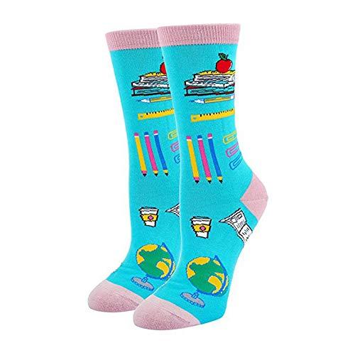 Qlans Frauen Casual Socken Urlaub Socken Strumpfwaren Schuhe Zubehör für die Schule