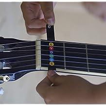 Tabla de notas para guitarra [Mapa trasero para principiantes] extraíble codificado por color -
