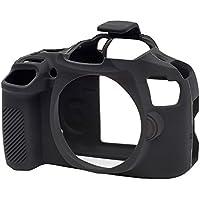 EasyCover Custodia in silicone, per fotocamera Canon EOS 1300d, colore: nero
