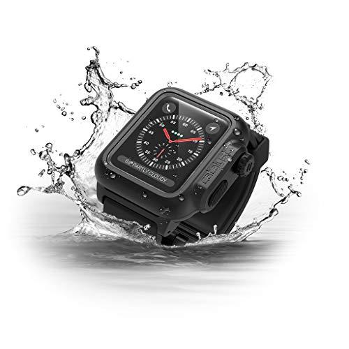 Catalyst Hülle für Apple Watch 42 mm Serie 2, Wasserdicht, Schockabsorbierend, Schwarz