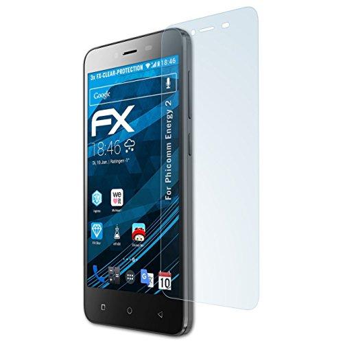 atFolix Schutzfolie kompatibel mit Phicomm Energy 2 Folie, ultraklare FX Bildschirmschutzfolie (3X)