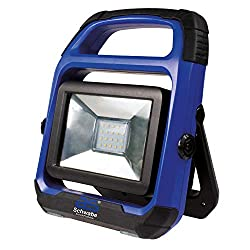 as - Schwabe Chip-LED Akku Arbeitsleuchte - 20 W Profi Baustrahler - LED Spot geeignet als Baustellenstrahler - Mobile LED Leuchte für die Außenbeleuchtung - Akku mit Batterieanzeige - Blau I 46492