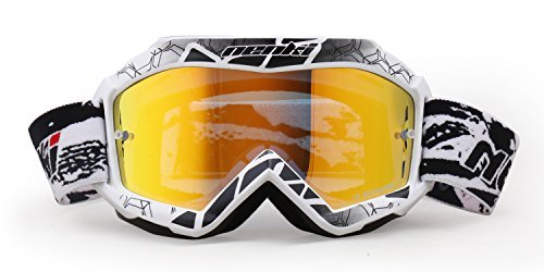 NENKI Kids Brillen NK-1018 for Motocross, ,Tinted Lens (White)