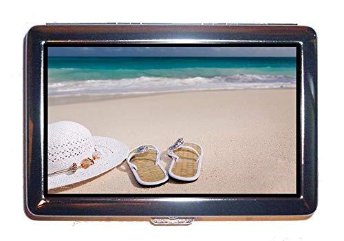 Portafoglio o portasigarette, infradito da spiaggia, custodia protettiva per porta biglietti da visita