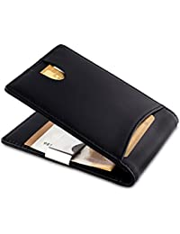 Kreditkartenetui mit Geldklammer und RFID Schutz / Leder Geldbörse Herren Klein / Portemonnaie mit Klammer - Ohne Münzfach