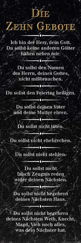 empireposter Die 10 Gebote - Schwarz - Religion Inspirations Slim Poster - Größe 30,5x91,5 cm + 1 Packung tesa Powerstrips® - Inhalt 20 Stück