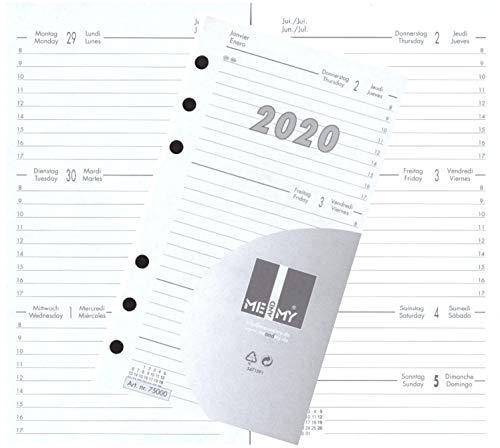 Kalendereinlage Kalender 2020 A6 Für Timer Zeitplaner 1 Woche 2 Seiten