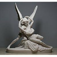 Cupido y Psique Estatua dios Eros de alabastro Nude amor & Alma Escultura Arte erótico