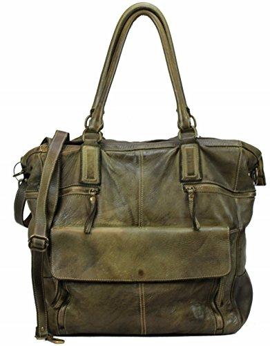 BZNA Bag Boney verde Italy Designer Damen Handtasche Ledertasche Schultertasche Tasche Leder Shopper Neu