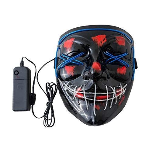 auspilybiber 2019 Halloween Maske LED Leuchtmaske für Festival Cosplay Halloween Kostüm, Scary Skeleton Mask, Glow in The Dark Masken, Luminescent Grimace Mask Honest (Dark Link Cosplay Kostüm)