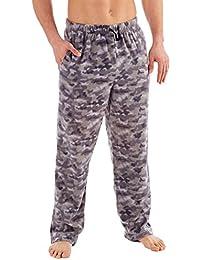 Hombre Clásico Camuflaje o De cuadros Forro Polar Ropa De Descanso Pijama Pantalones