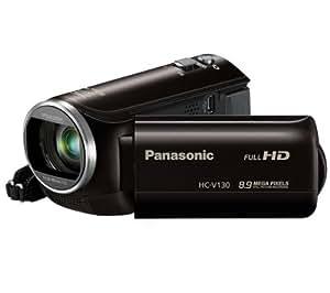 PANASONIC HC-V130 - noir - Caméscope + Etui nylon TBC405K - noir + Carte mémoire SDHC Premium Series - 16 Go Classe 10 (LSD16GBBEU200)