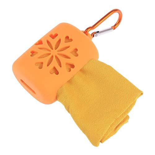 LIOOBO Sport Workout Schweißtuch Travel Gym Handtuch Absorbent für Fitness Laufen Radfahren Schwimmen - Orange