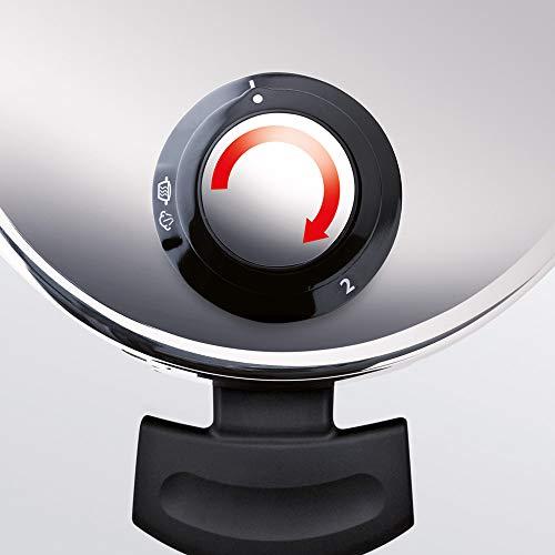 Fissler Schnellkochtopf-Set vitavit premium 2 teilig/Schnellkochtopf 4,5 L u. Schnellbratpfanne 2,5 L/22cm Durchmesser mit Einsatz/620-301-11-070/0