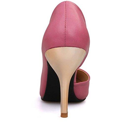 Chaussures à talons compensés YCMDM peach red
