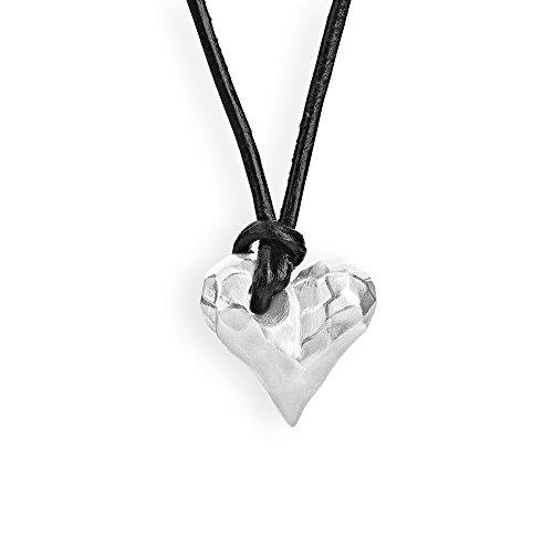 Drachenfels edler Herzanhänger aus der Kollektion Heartbreaker in Echtsilber |Kleiner Anhänger Silber 925 Sterling