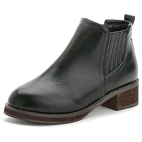 Otoño/invierno con botas planas con retro señora Martin botas tobillo botas zapatos tacón zapatos de las mujeres , black ,