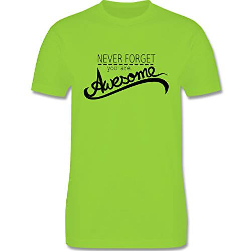 Statement Shirts - Never forget you are awesome - Herren Premium T-Shirt Hellgrün
