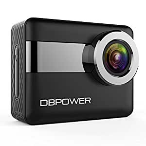 "DBPOWER 4K WiFi Action Camera, 2.31"" LCD Touchscreen 20MP 170 Wide Angle Waterproof Sports Cam, 2 Rechargeable Batteries included Accessories Kits(2017 Version)"