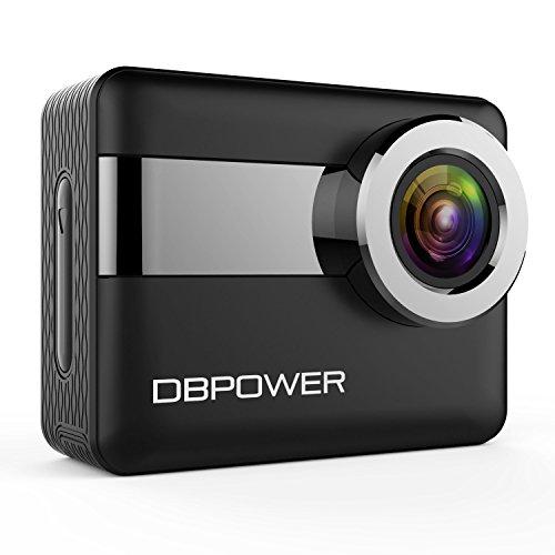 """DBPOWER 4K WiFi Action Kamera, 2,31"""" LCD Touchscreen 20 Megapixel 170 Grad Weitwinkel Wasserdichte Sport Kamera, 2 aufladbare Batterien enthalten, samt Accessoires (2017 Version)"""