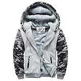 Manadlian Herren Kapuzenpullover Winter Warm Vlies Reißverschluss Sweatshirt Jacke Outwear Mantel Blusen
