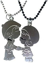 Modish Look Magnetic Love Valentine Girl Boy Two Lockets