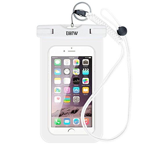 Funda Impermeable ,EOTW Funda Bolsa Sumergible Universal Para Natación,Buceo,Canoa,Surf, kayak,pesca,piscina,a la playa y piscina ,O bajo inclemencias de tiempo adversas. para iPhone 6/6s plus,Samsung s6 / s6 edge / s5 / s4, (TPU-Blanco)