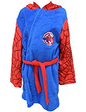 Ultimate Spiderman Marvel Kids con capucha forro polar albornoz bata