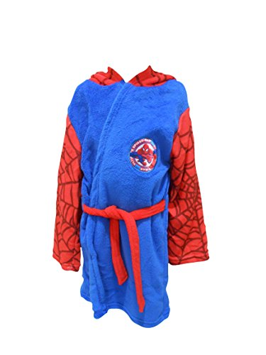 Ultime Spiderman Marvel Enfants Polaire Capuche Peignoir Robe De Chambre - Bleu, 2-3 Years