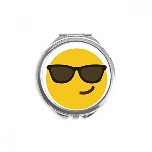 DIYthinker Sonnenbrille kühles Gelb Nette Online Chat Spiegel Runde bewegliche Handtasche Make-up 2.6 Zoll x 2.4 Zoll x 0.3 Zoll Mehrfarbig