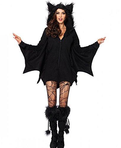 Avenue Kapuzen Kostüme Leg (Damen-Kostüm Leg Avenue - Cozy Bat - Fledermaus warm flauschig Halloween Vampir,)