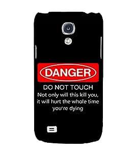 Fuson Designer Back Case Cover for Samsung Galaxy S4 Mini I9195I :: Samsung I9190 Galaxy S4 Mini :: Samsung I9190 Galaxy S Iv Mini :: Samsung I9190 Galaxy S4 Mini Duos :: Samsung Galaxy S4 Mini Plus (Danger do not touch theme)