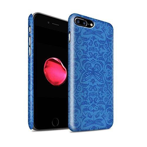 STUFF4 Matte Snap-On Hülle / Case für Apple iPhone 8 Plus / Lila Muster / Insekten Muster Kollektion Blau