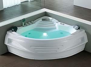 whirlpool badewanne berlin mit 6 massage d sen unterwasser beleuchtung licht wasserfall. Black Bedroom Furniture Sets. Home Design Ideas