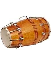 SG Musical Dholak (Dholki),Mango Wood, Nut Bolt-tuned