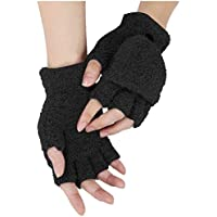 Handschuhe mit Katze fingerlose schwarz bunt Herz