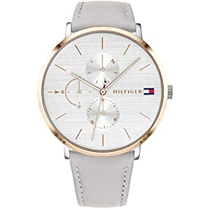 Tommy Hilfiger Womens Multi dial Quartz Watch with Leather Strap 1781946
