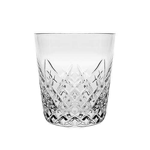 Barski - Set von 6 - mundgeblasen - handgeschliffene - Kristallgläser - DOF - Double Old Fashioned - Whiskey Tumblers - Jedes Glas ist 340 ml - Becher ist einzigartig gestaltet - Made in Europe -