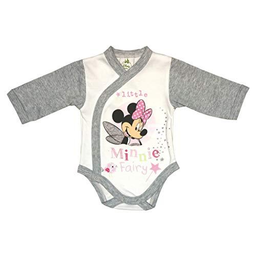 n Baby Body Langarm in Rosa Weiß Gr 56 62 68 74 80 86 92 98 Disney Baby mit Kragen Wickelbody 0 6 12 18 24 Monate Farbe Modell 3, Größe 74 ()