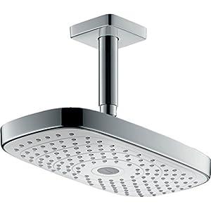 Hansgrohe 27384400 Raindance Select E 300 ducha de techo, 2 tipos de chorro, blanco/cromo