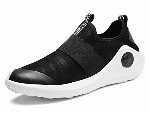 Hommes Respirant Chaussures De Course Automne Hiver Pu Mode Sole Sneakers Léger Sneakers Noir