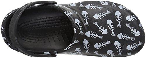 Crocs Bistro Graphic Clog, Sabots Mixte Adulte Noir (Black/pearl White)