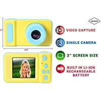 Jicson J66 Kids Digital Camera Mini 2 Inch Screen Children Camera 1080 HD Digital Camera Toys Camera for Boys Girls Birthday Gift- Blue