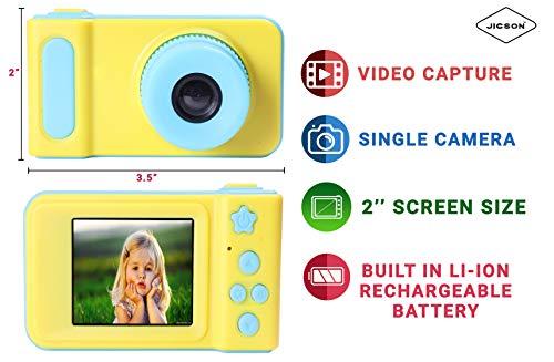 Jicson J66 Kids Digital Camera Mini 2 Inch Screen Children Camera 1080 HD Digital Camera Toys Camera for Boys Girls Birthday Gift- Blue