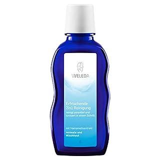 WELEDA 2in1 Erfrischende Reinigung, Naturkosmetik Gesichtswasser und Make-up Entferner zur porentiefen Reinigung und Pflege von Gesicht, Haut und Hals (1 x 100 ml)