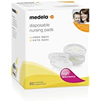 Discos absorbentes desechables de lactancia Medela para pérdidas de leche, 60 unidades