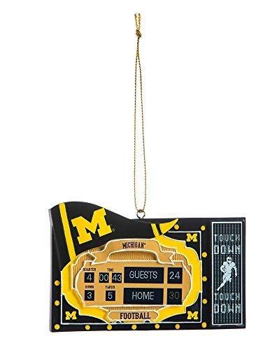 Michigan Ornament (Team Sports America Polystone Michigan Wolverines Scoreboard Ornament by Evergreen Enterprises, Inc.)