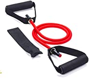 Bulfyss Toning Tube Resistance Band with Additional Door Anchor (30-35 lbs) - Random Colour