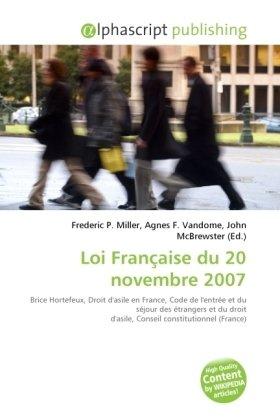 Loi Française du 20 novembre 2007